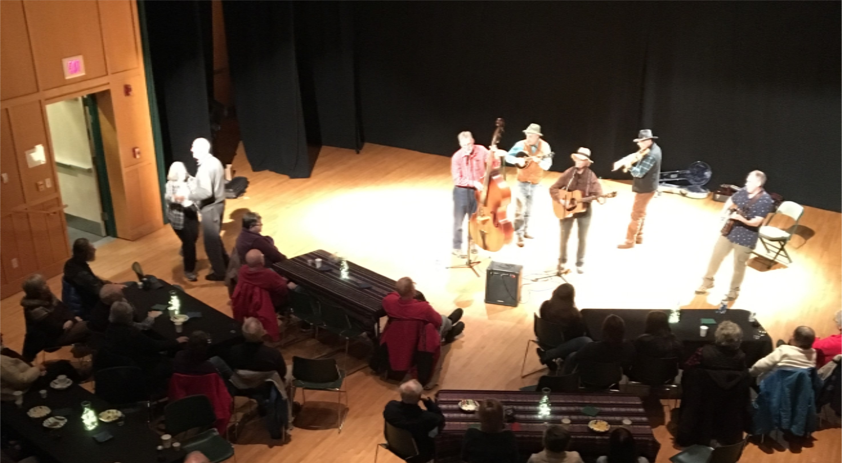 Adirondack Mountain Bluegrass performing at Tannery Pond